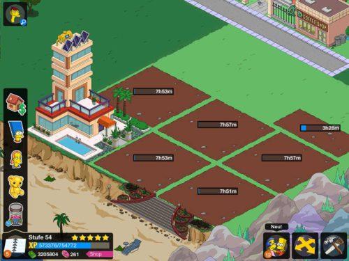 Eine Deluxe-Wohnung kann in Simpsons Springfield für wenig Möbel errichtet werden - Baue daher direkt alle 10