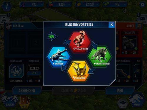 Jurassic World Klassenvorteile: Achte auf die Stärken und Schwächen