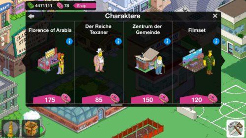 Simpsons Springfield Charakter kaufen oder im Verlauf der Storyline freischalten