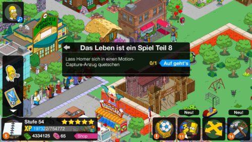 Simpsons Springfield Das Leben ist ein Spiel Storyline geht weiter