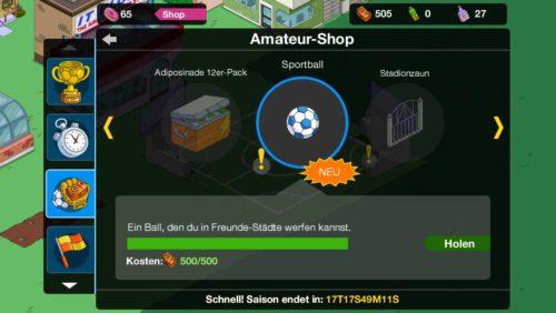 Simpsons Springfield Sportball im Amateur Shop für 500 Amateur-Dollar kaufen