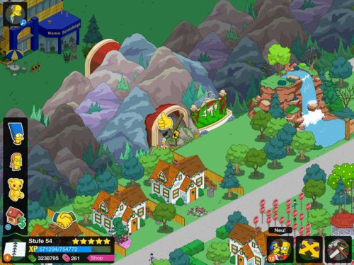 Um Springfield Heights freizuschalten, musst du Mr. Burns und Homer frei haben