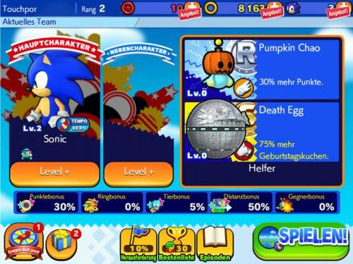 Sobald verfügbar, solltest du stets zwei Helfer bei Sonic Runners einsetzen