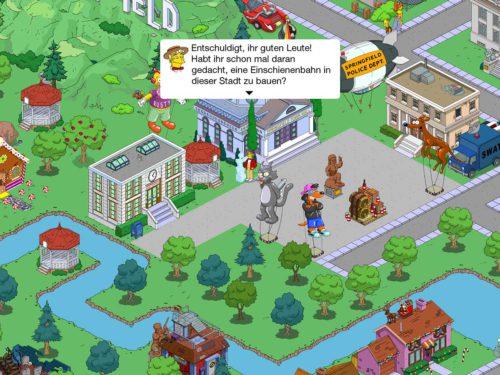 Auch in Simpsons Springfield kann die Monorail gebaut werden wenn du die Storyline Ein Gleis für eine Stadt durchspielst