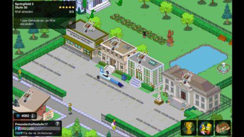 Bei deinen Freunden und Nachbarn von Simpsons Springfield kannst du Müll abladen, um an Blaupausen zu gelangen