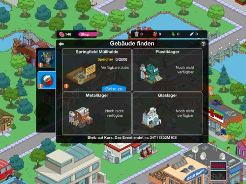 Bei diesen Gebäuden können Simpsons Springfield Bewohner Aufgaben gegeben werden