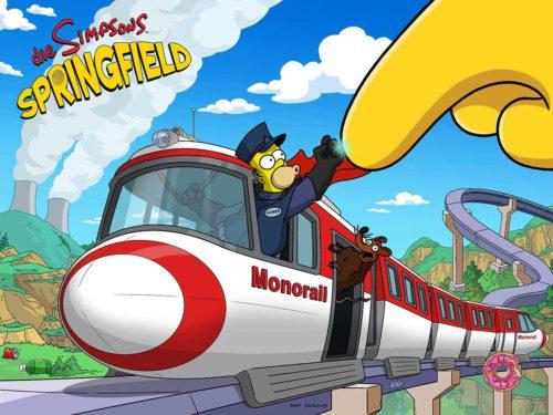 So kommst du beim Simpsons Springfield Monorail Event an Blaupausen bei Akt 1