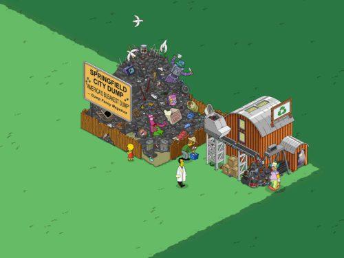 Um Projekte an der Projekttafel abzuschließen und Blaupausen zu bekommen, musst du Springfielder bei der Müllhalde und dem Metalllager Jobs geben