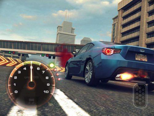Need for Speed No Limits: Ein perfekter Start glückt nur, wenn sich der Zeiger im grünen Bereich befindet