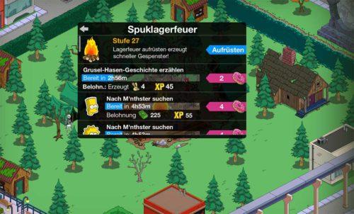 Auch in Akt 2 dreht sich alles um das Spuklagerfeuer in Simpsons Springfield