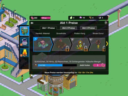 Simpsons Springfield Halloween 2015: Diese Preise in Akt 1 gibt es