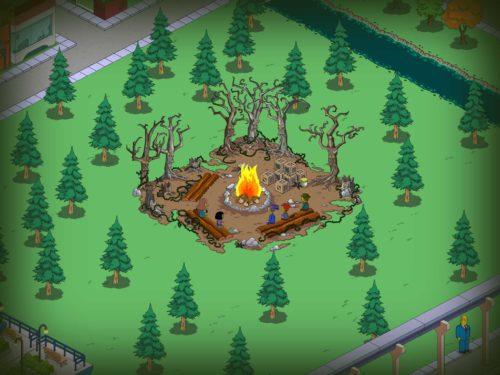 Simpsons Springfield Treehouse of Horror 2015: Das Spuklagerfeuer ist der zentrale Anlaufpunkt im neuen Event
