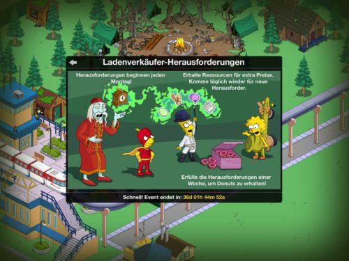 So funktionieren die Ladenverkäufer-Herausforderungen beim Simpsons Springfield Treehouse of Horror 2015 Event