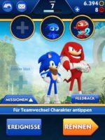Schalte in Sonic Dash 2 dein Team zusammen, indem du weitere Charaktere freischaltest - (c) Sega