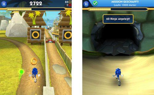Wenn du die Abzweigung in Sonic Dash 2 nimmst, kommst du nicht nur in eine andere Welt, sondern deine gesammelten Ringe werden auch gesichert