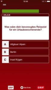 """Spannend wird es bei Fragen in der Kategorie """"Wie ticken wir"""" bei Spiel für dein Land - Screenshot (c) NDR"""
