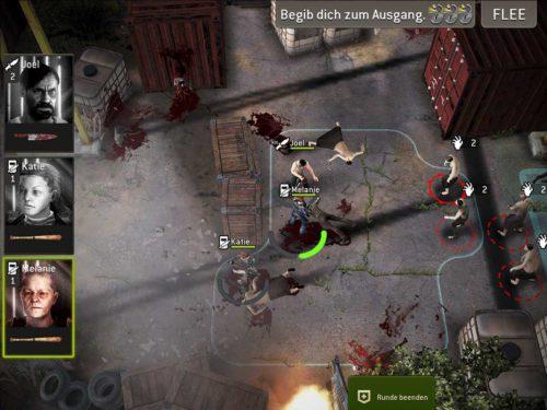 Im Screenshot ist ein klassischer Angriff dargestellt. Die richtige Strategie entscheidet teilweise über Sieg oder Niederlage
