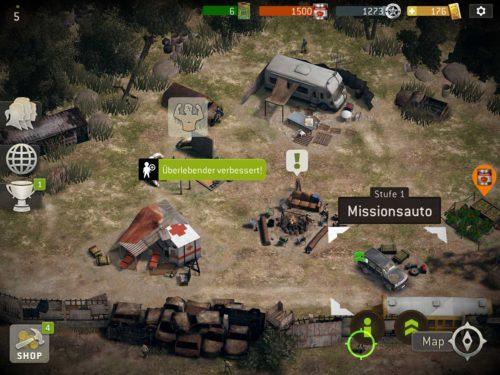 Im Camp von The Walking Dead No Man's Land kannst du das Missionsauto upgraden, um deine Lagerkapazität zu erhöhen