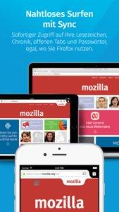 Dank Firefox Sync kannst du plattformübergreifend deine Lesezeichen und Passwörter nutzen - Screenshot (c) Mozilla