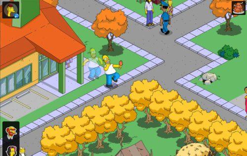 Einer der Preise bei Simpsons Springfield Thanksgiving 2015 ist der animierte Job für Homer