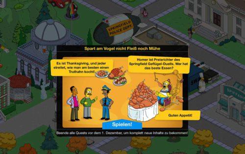 So funktioniert das Simpsons Springfield Thanksgiving 2015 Event