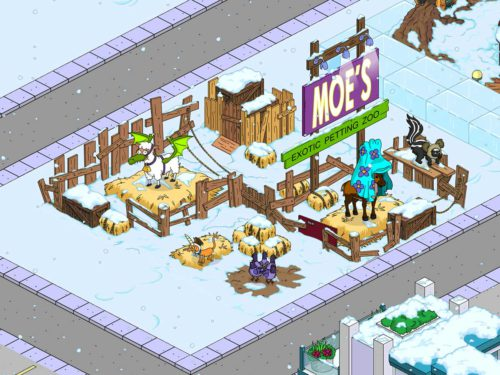 Exoten Streichelzoo beim Simpsons Springfield Winter 2015 Event