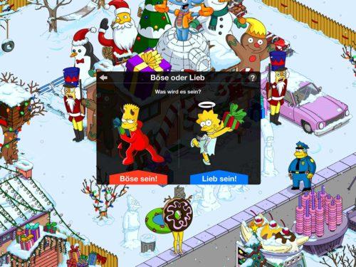 Du solltest dich für Lieb bei Simpsons Springfield entscheiden, denn so haben die Spieler am meisten davon