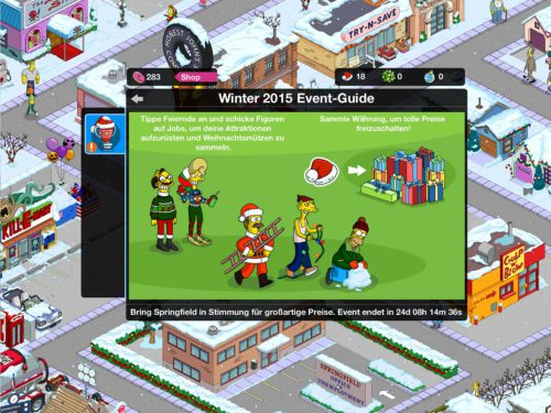 So funktioniert das Simpsons Springfield Winter 2015 Event - (c) EA
