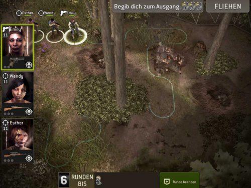 Verschollener Bunker bei den Schwierigkeiten im Wald - (c) Screenshot The Walking Dead No Man's Land
