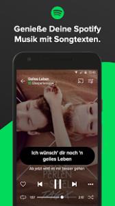 Screenshot zur App Musixmatch Songtexte
