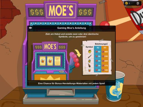 Bei Gaming Moes kannst du Spielmarken einsetzen, um so Chips und Materialien zu erhalten