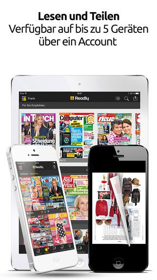 readly tausende zeitschriften auf dem smartphone und tablet lesen touchportal. Black Bedroom Furniture Sets. Home Design Ideas