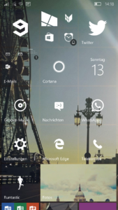 Windows 10 Mobile - Startscreen
