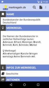 Merkregeln App Screenshot - (c) Patrick Herrler