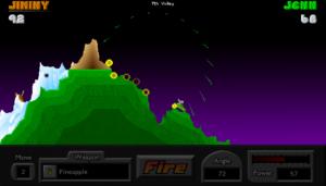 Pocket Tanks Screenshot -(c) Blitwise Productions