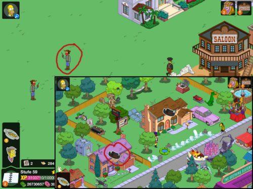 Banditen lauern an zahlreichen Stellen in Simpsons Springfield