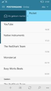Windows 10 Mobile Mail App