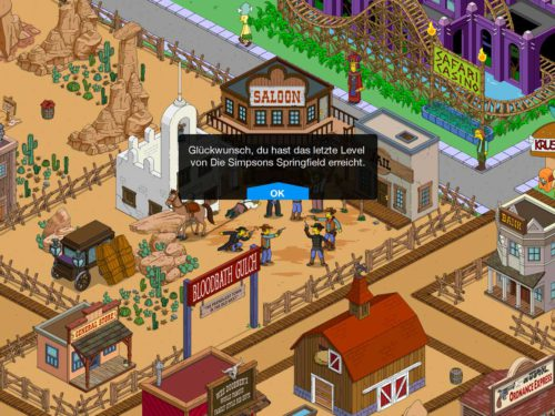 Simpsons Springfield Level 60: Das letzte richtige Level Update