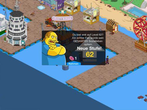 Es wird zwar weitere Level in Simpsons Springfield geben, aber diese bringen keine neuen Gebäude mehr mit sich