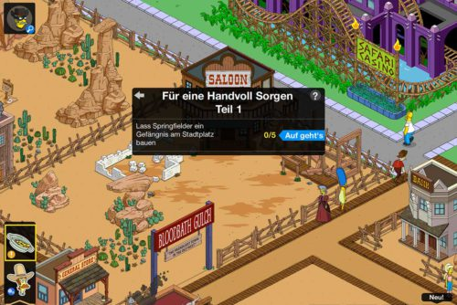Simpsons Springfield Wilder Westen Akt 2: Die neue Storyline für eine Handvoll Sorgen