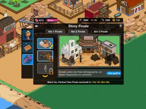 Simpsons Springfield Wilder Westen Akt 3 Story-Finale