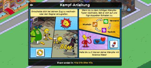 Simpsons Springfield Kampf Anleitung Superhelden 2 Event