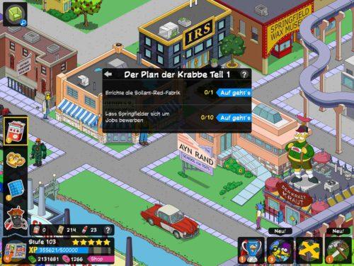 Simpsons Springfield Superhelden 2 Akt 2 Storyline Der Plan der Krabbe