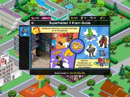 Das ist deine Aufgabe im Simpsons Springfield Superhelden 2 Event