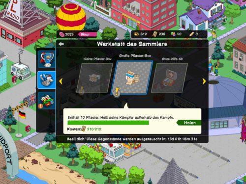 In der Werkstatt des Sammlers kannst du deine Sammelkarten vom Simpsons Springfield Superhelden 2 Event eintauschen