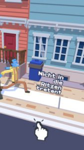 In der App Steppy Pants darfst du nicht in die Ritzen treten - (c) Super Entertainment
