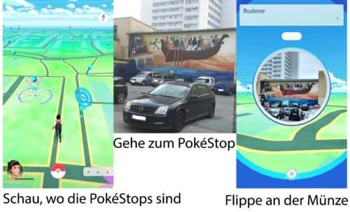 Im ersten Schritt von Pokemon GO erkundest du deine Umgebung und gehst die PokeStops ab
