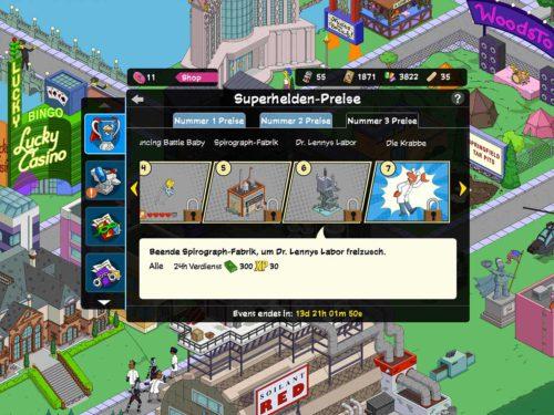 Die Simpsons Springfield Superhelden 2 Akt 3 Preise in der Übersicht