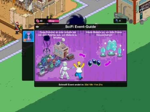 Die Simpsons Springfield SciFi Event Guide