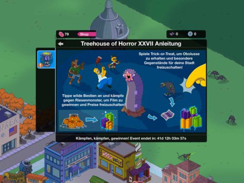 Anleitung zum Simpsons Springfield Treehouse of Horror XXVII Event